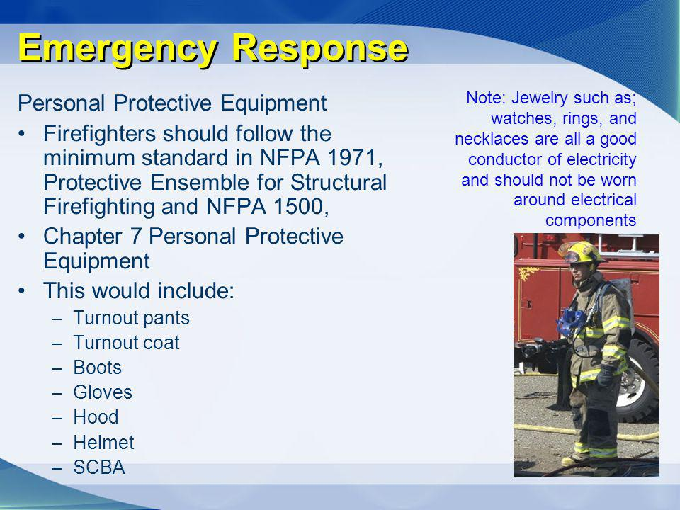 Emergency Response Personal Protective Equipment