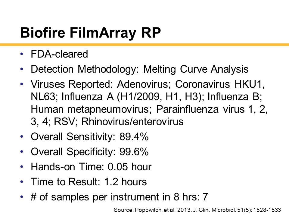 Biofire FilmArray RP FDA-cleared