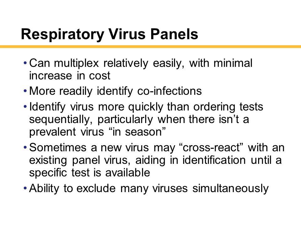 Respiratory Virus Panels