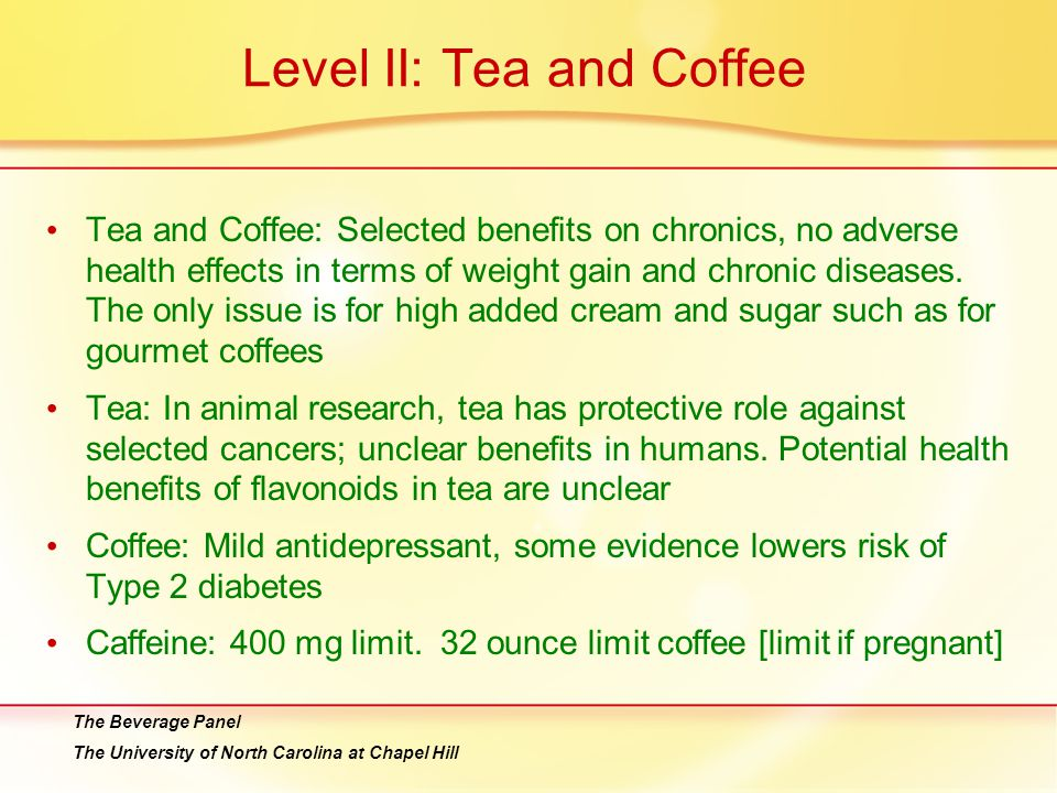 Level II: Tea and Coffee