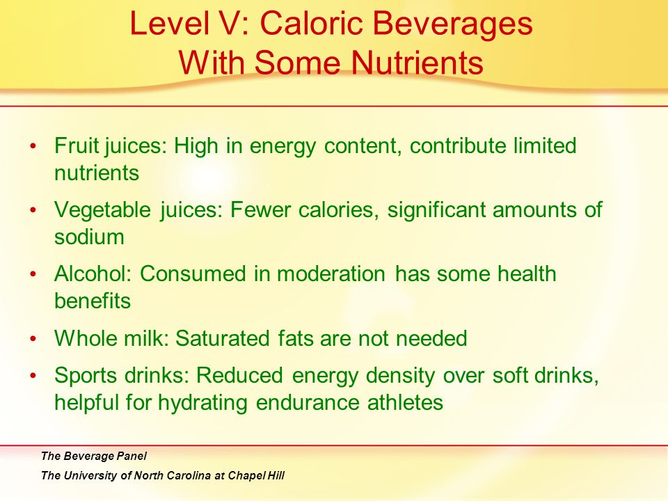 Level V: Caloric Beverages With Some Nutrients
