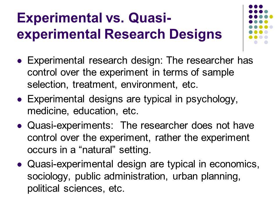Quasi-experimental Research Designs - Statistics Solutions