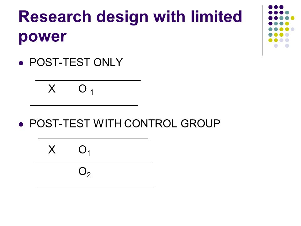 Research design with limited power