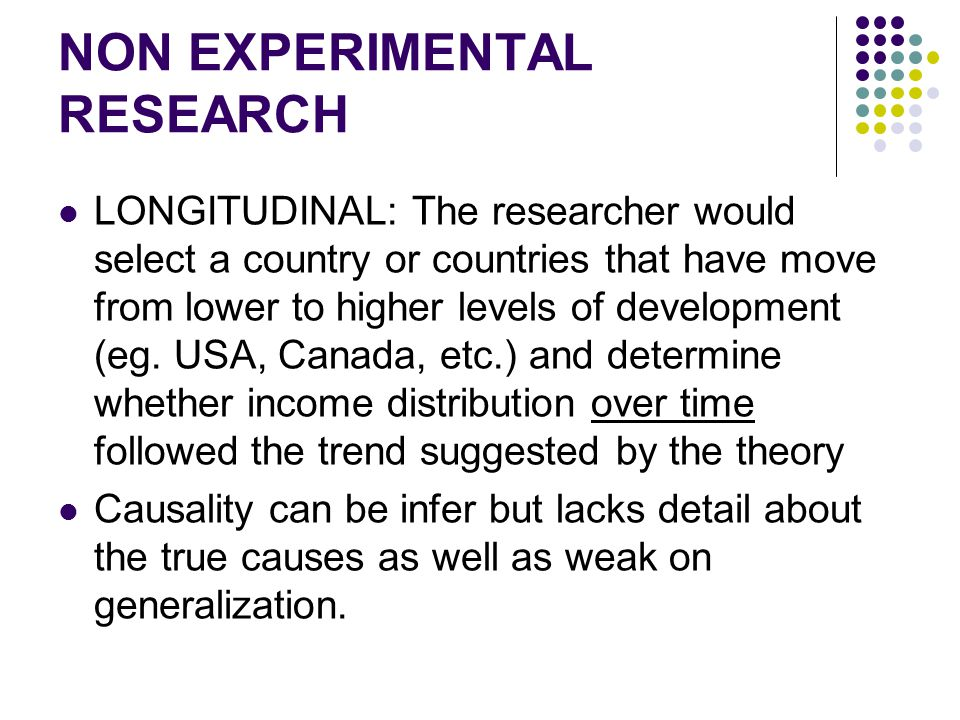 NON EXPERIMENTAL RESEARCH