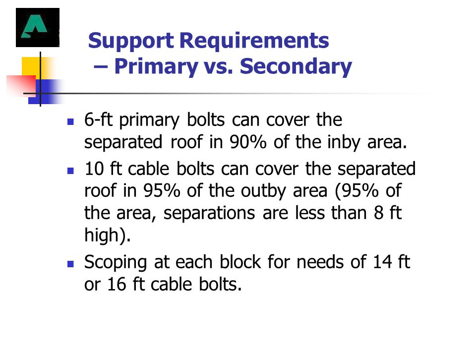 Support Requirements – Primary vs. Secondary