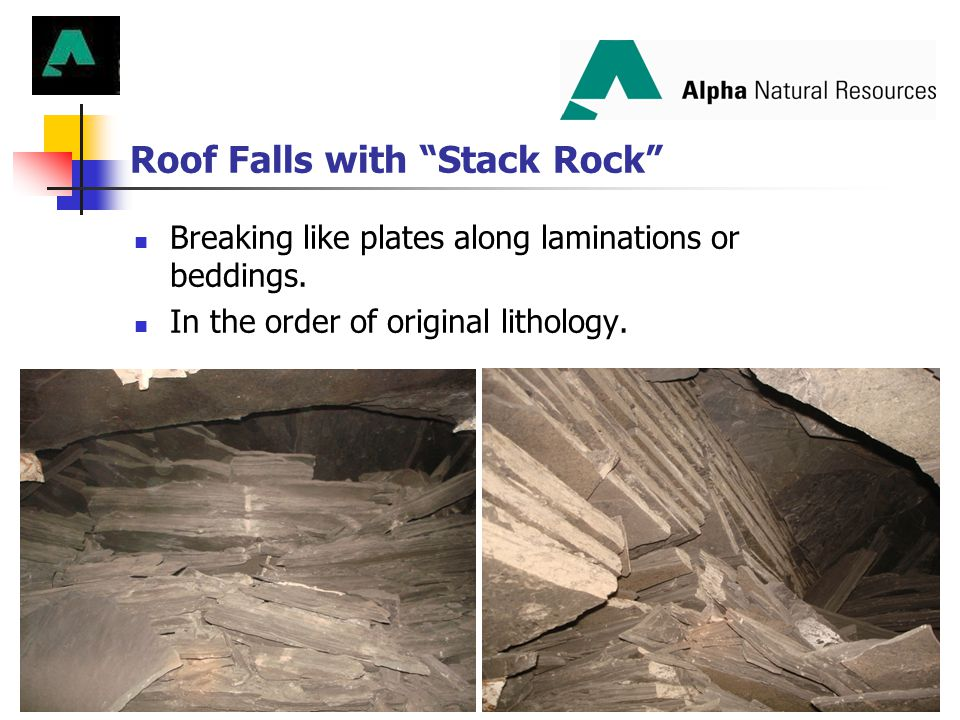 Roof Falls with Stack Rock