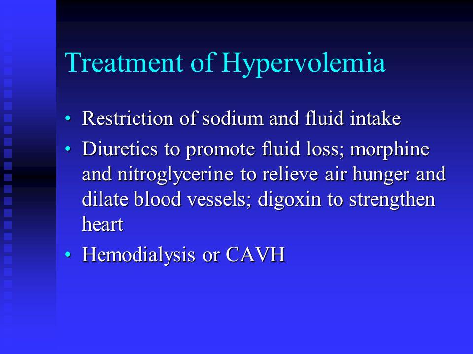 Treatment of Hypervolemia