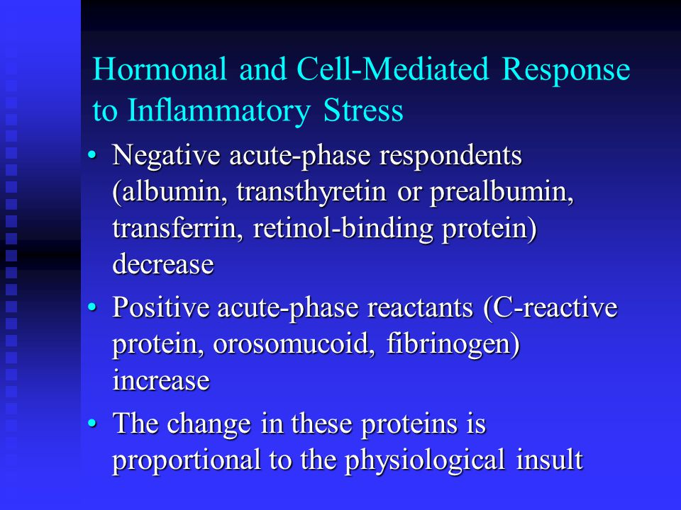 Hormonal and Cell-Mediated Response to Inflammatory Stress