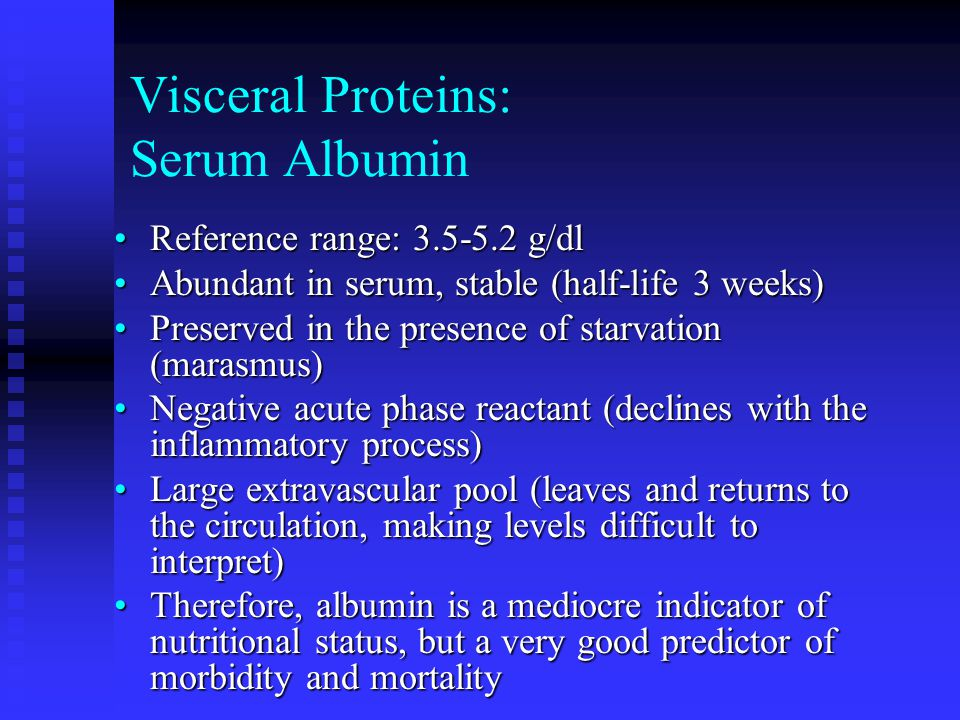 Visceral Proteins: Serum Albumin