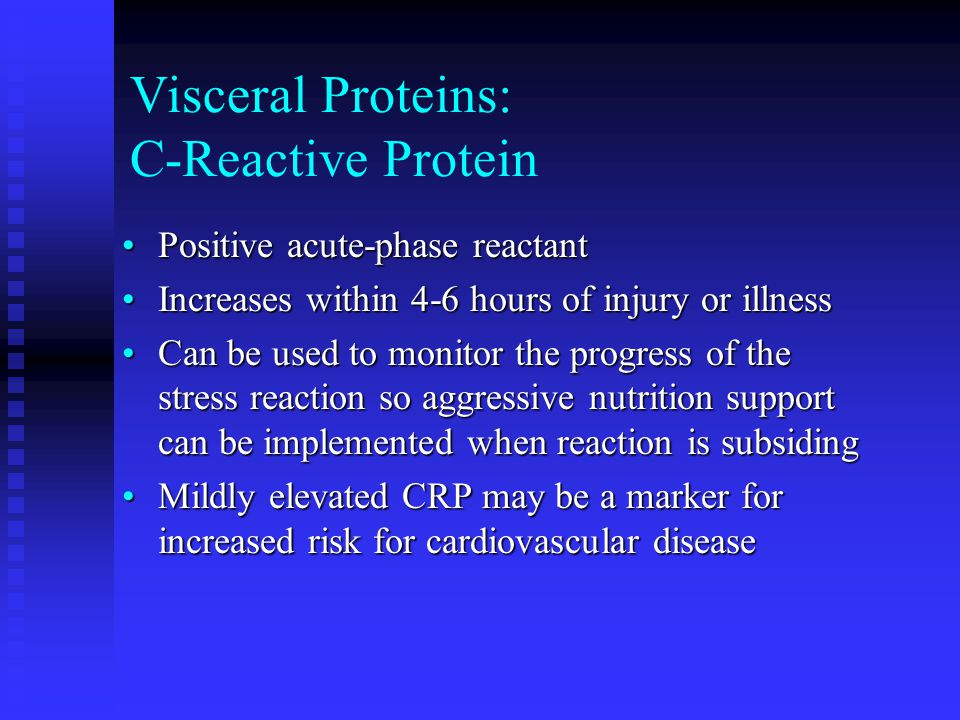 Visceral Proteins: C-Reactive Protein