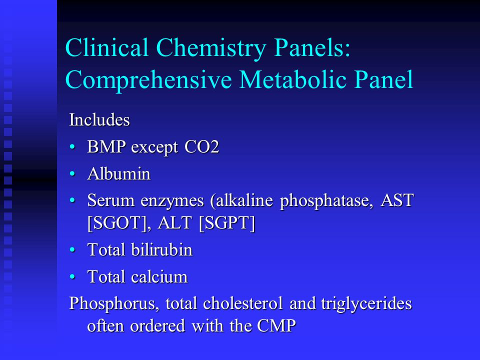 Clinical Chemistry Panels: Comprehensive Metabolic Panel