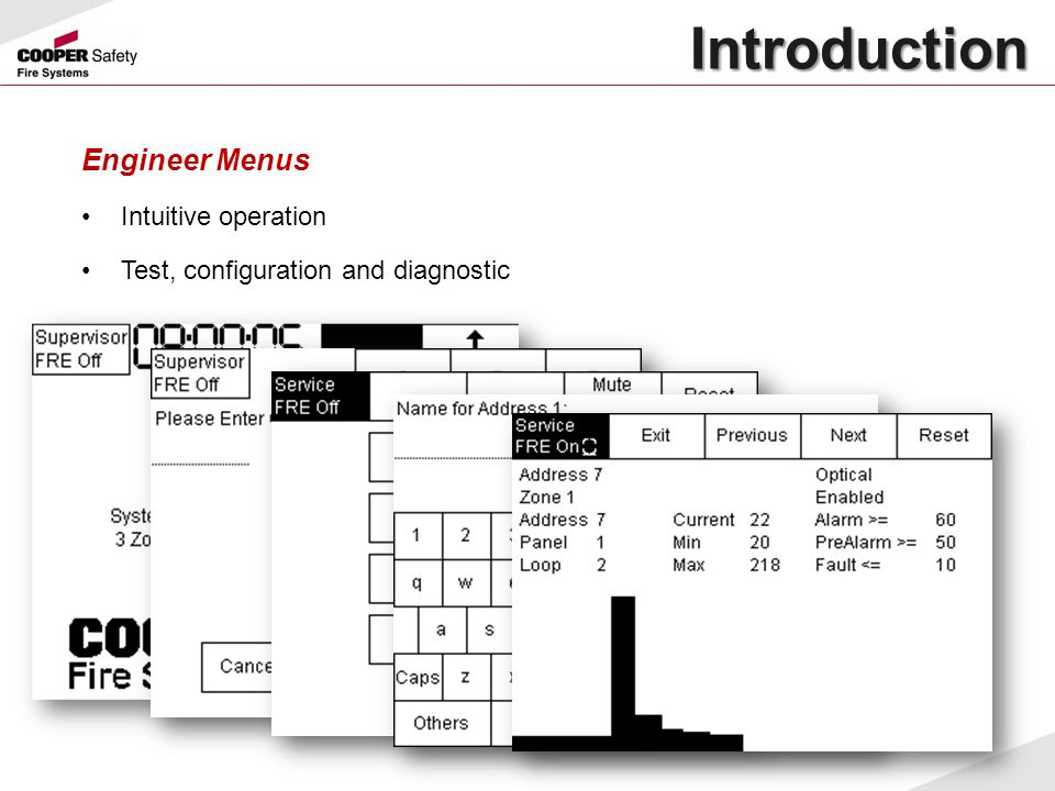 Introduction Engineer Menus Intuitive operation