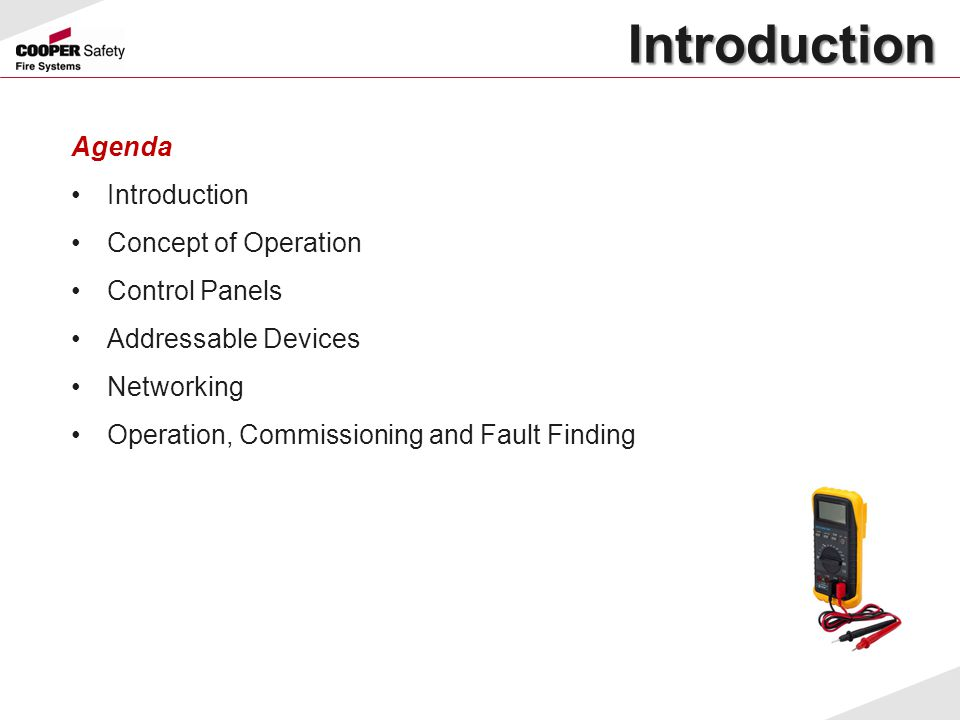 Introduction Agenda Introduction Concept of Operation Control Panels