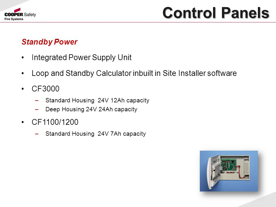 Control Panels Standby Power Integrated Power Supply Unit