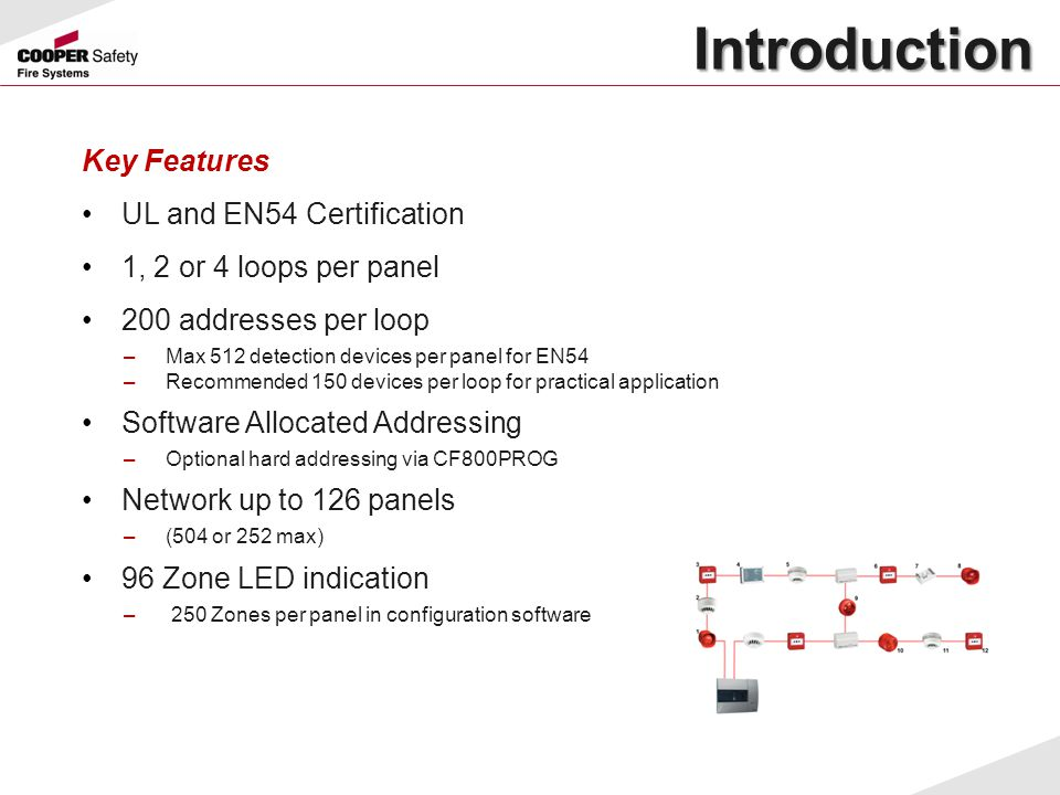 Introduction Key Features UL and EN54 Certification