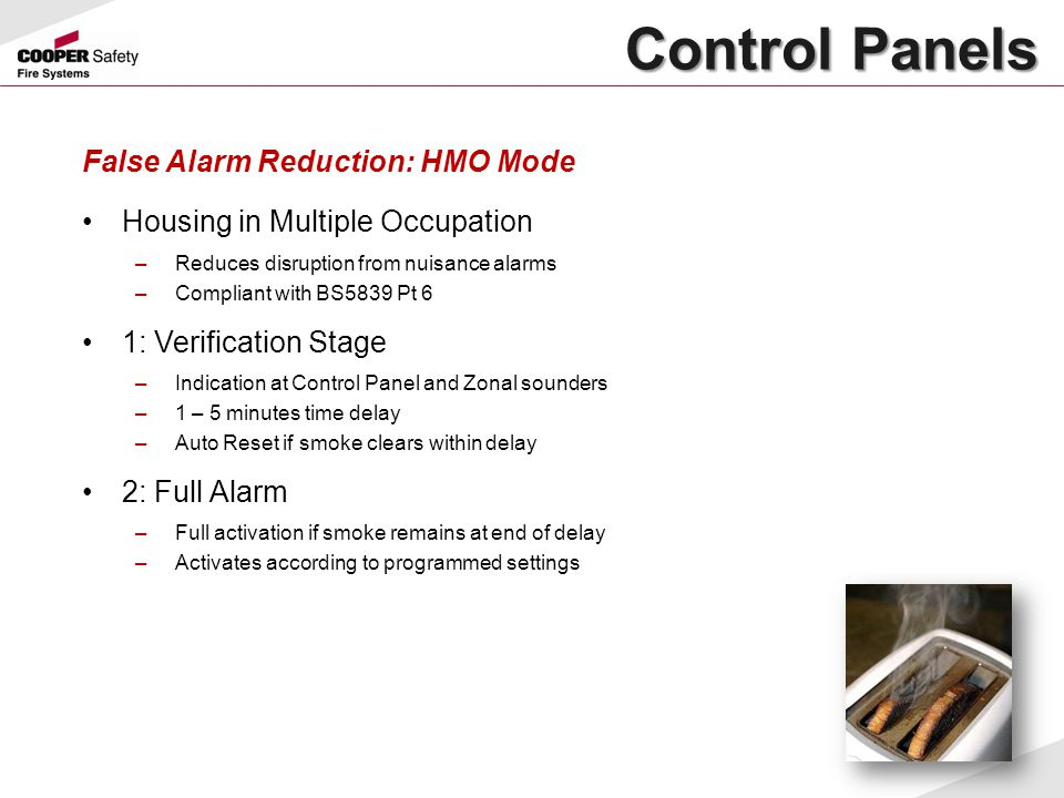 Control Panels False Alarm Reduction: HMO Mode