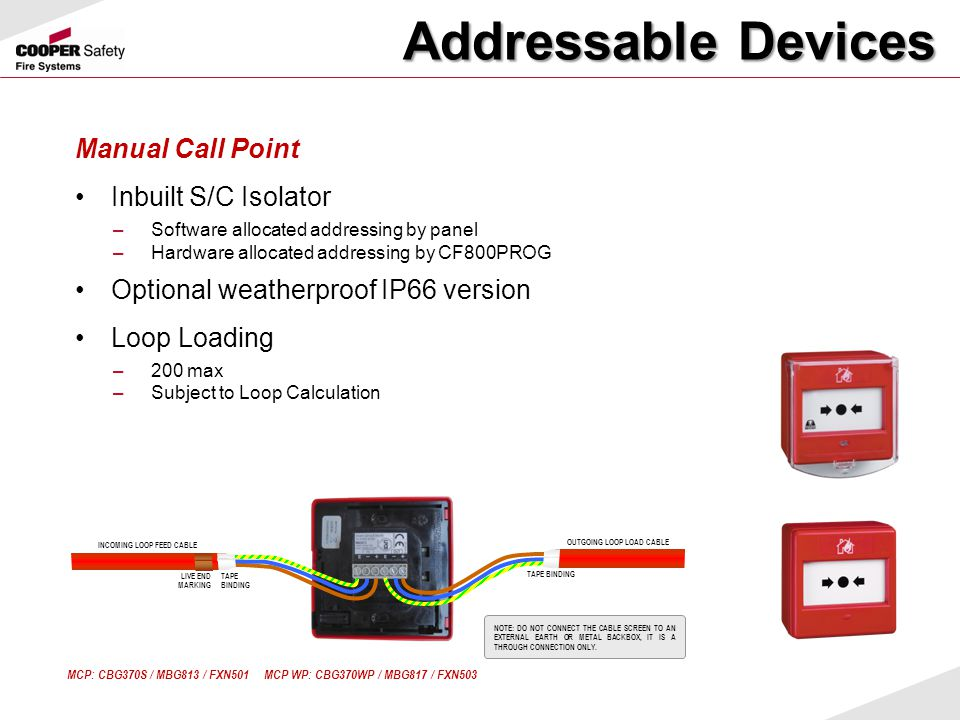 Addressable Devices Manual Call Point Inbuilt S/C Isolator