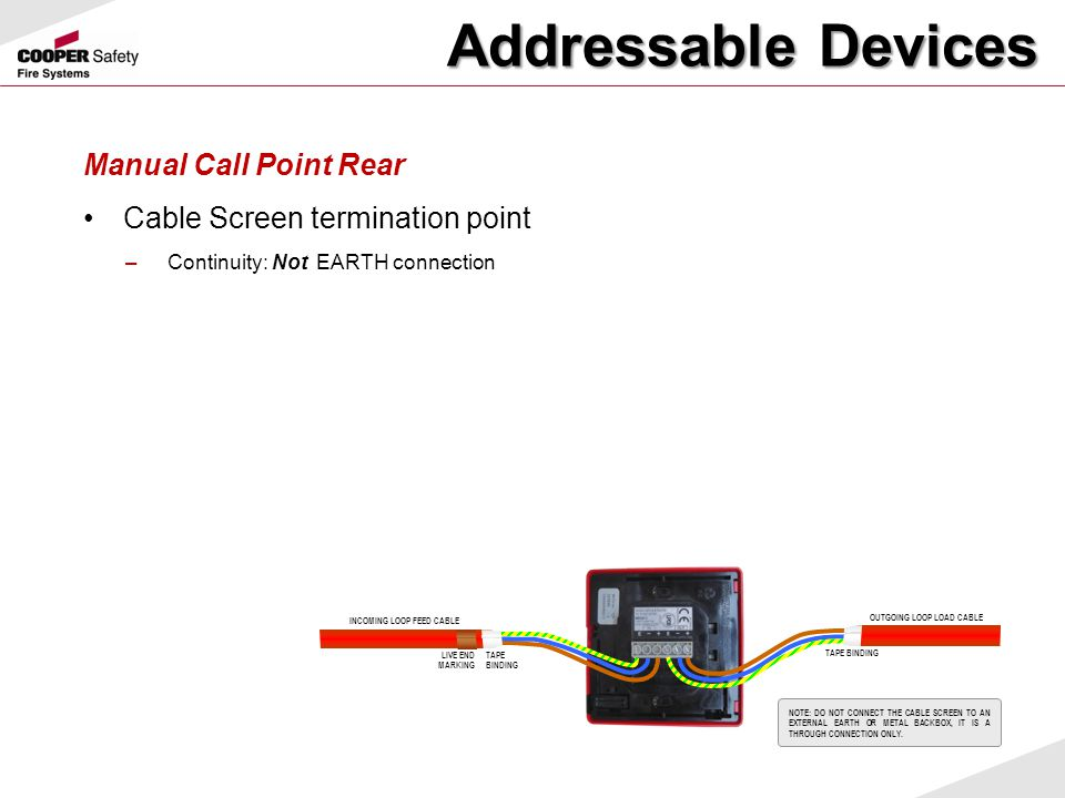 Addressable Devices Manual Call Point Rear