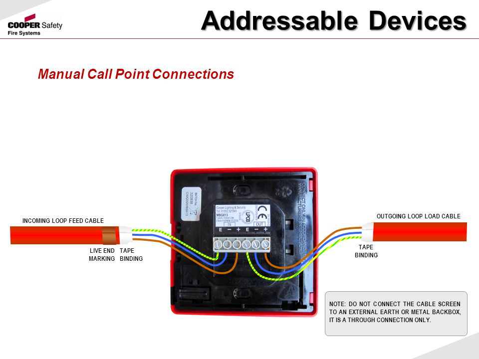 Addressable Devices Manual Call Point Connections