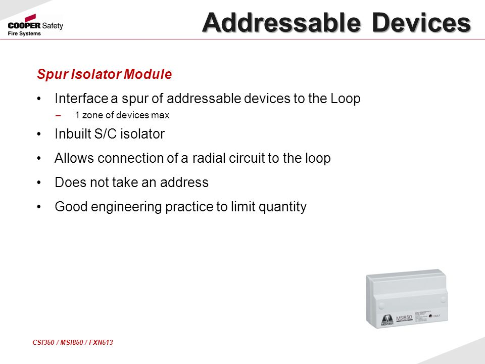 Addressable Devices Spur Isolator Module