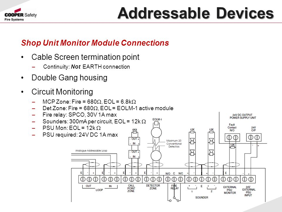Addressable Devices Shop Unit Monitor Module Connections