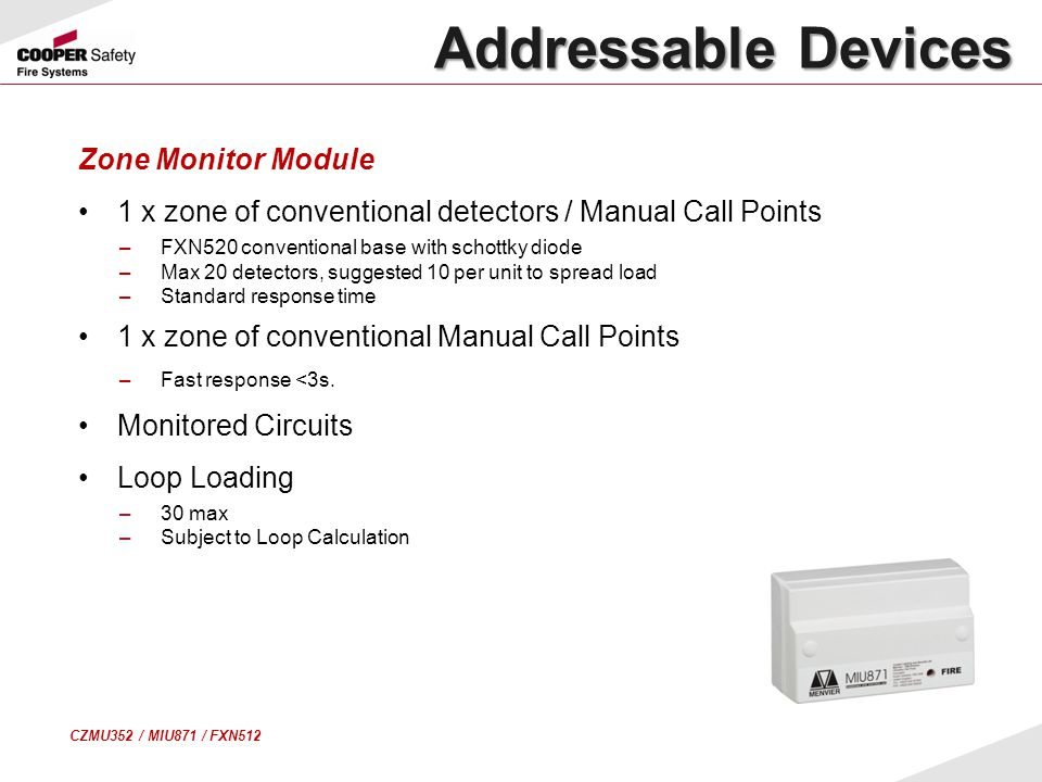 Addressable Devices Zone Monitor Module