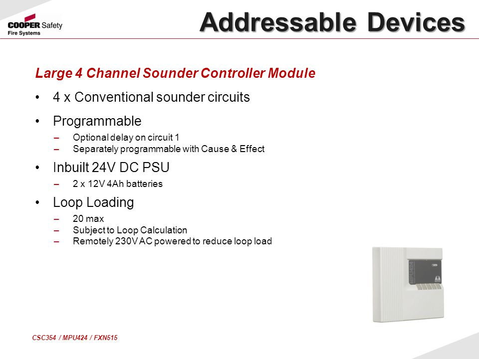 Addressable Devices Large 4 Channel Sounder Controller Module