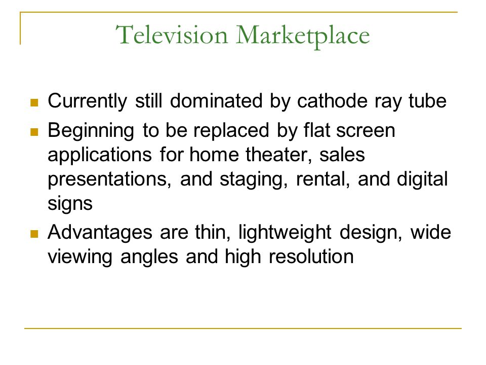 Television Marketplace