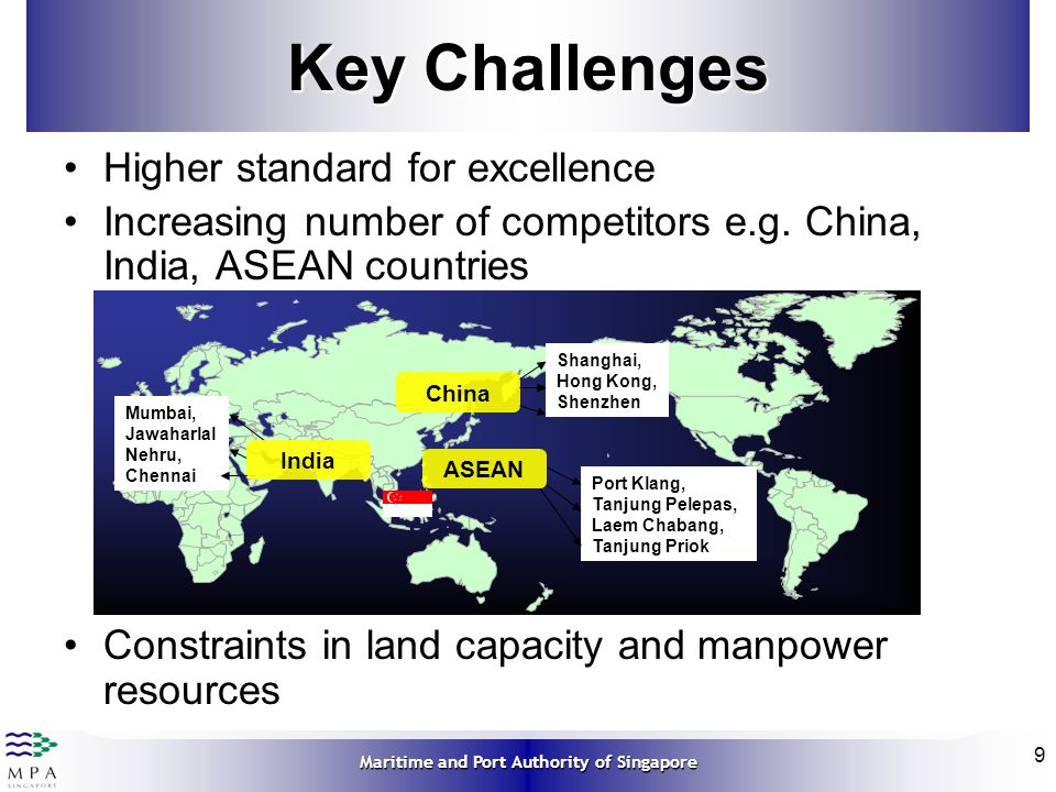 Key Challenges Higher standard for excellence