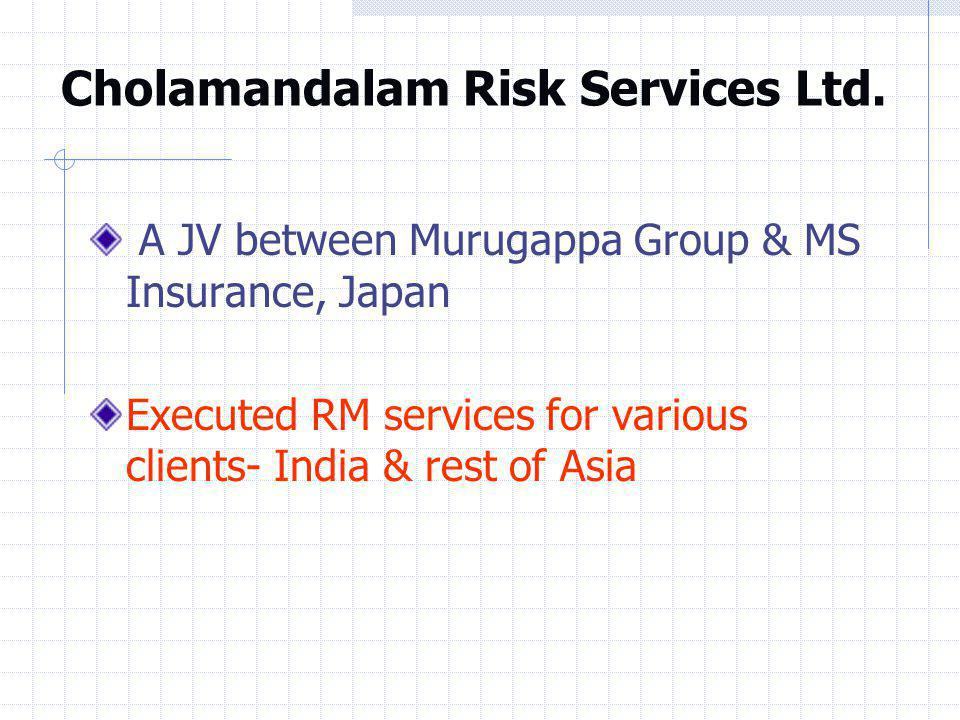 Cholamandalam Risk Services Ltd.