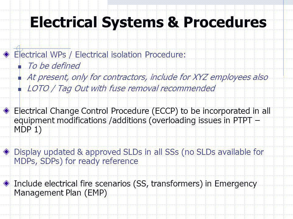 Electrical Systems & Procedures