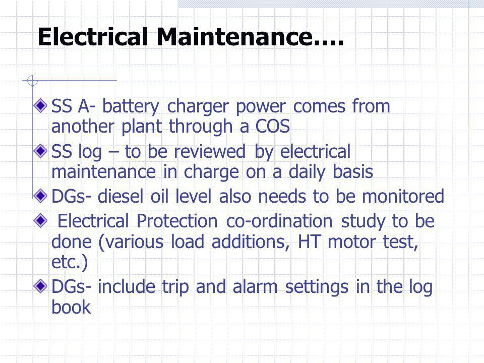Electrical Maintenance….