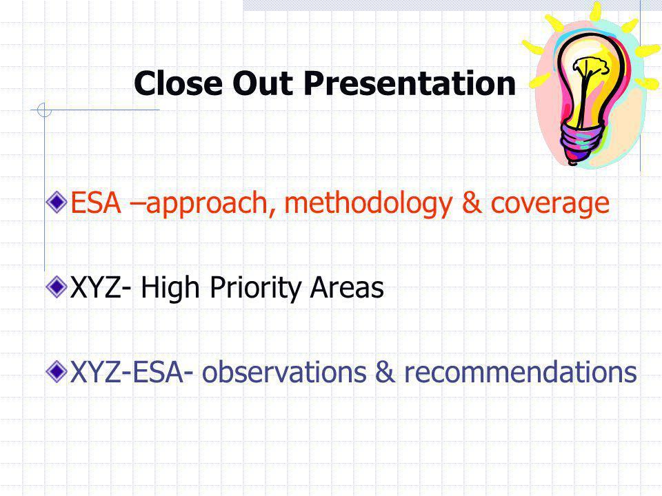 Close Out Presentation