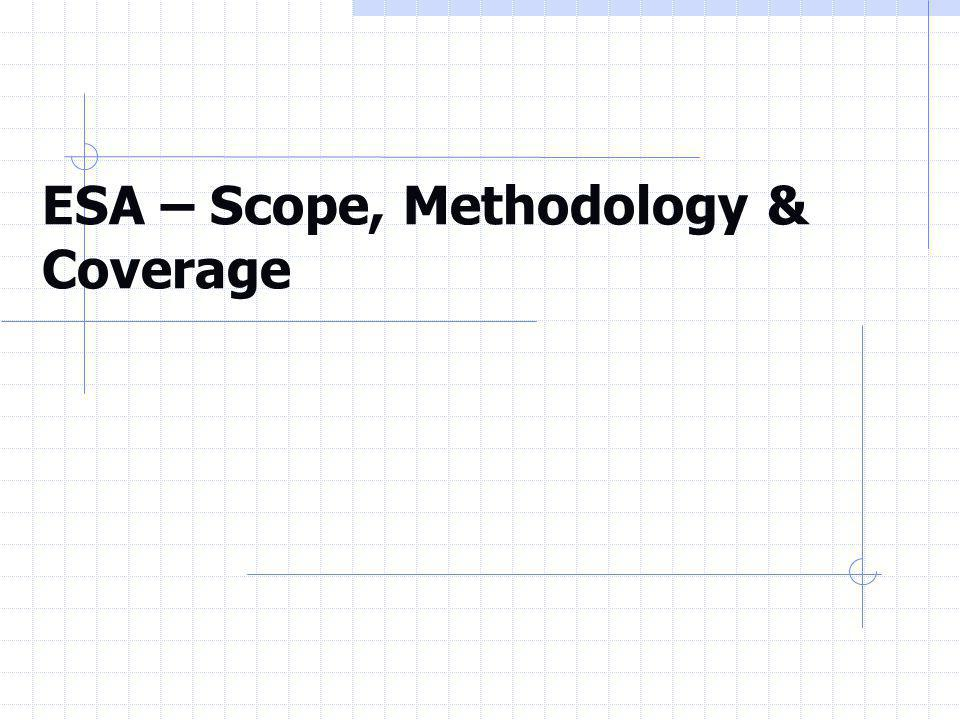 esa methodology Based on esa 2010 methodology edition 2017 periodicity: irregular published on august 2017 article number: 6489031179004 you may contact us at.