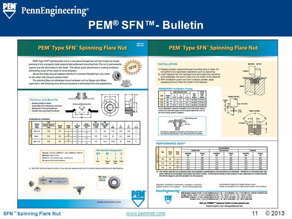 PEM® SFN™- Bulletin SFN™ Spinning Flare Nut