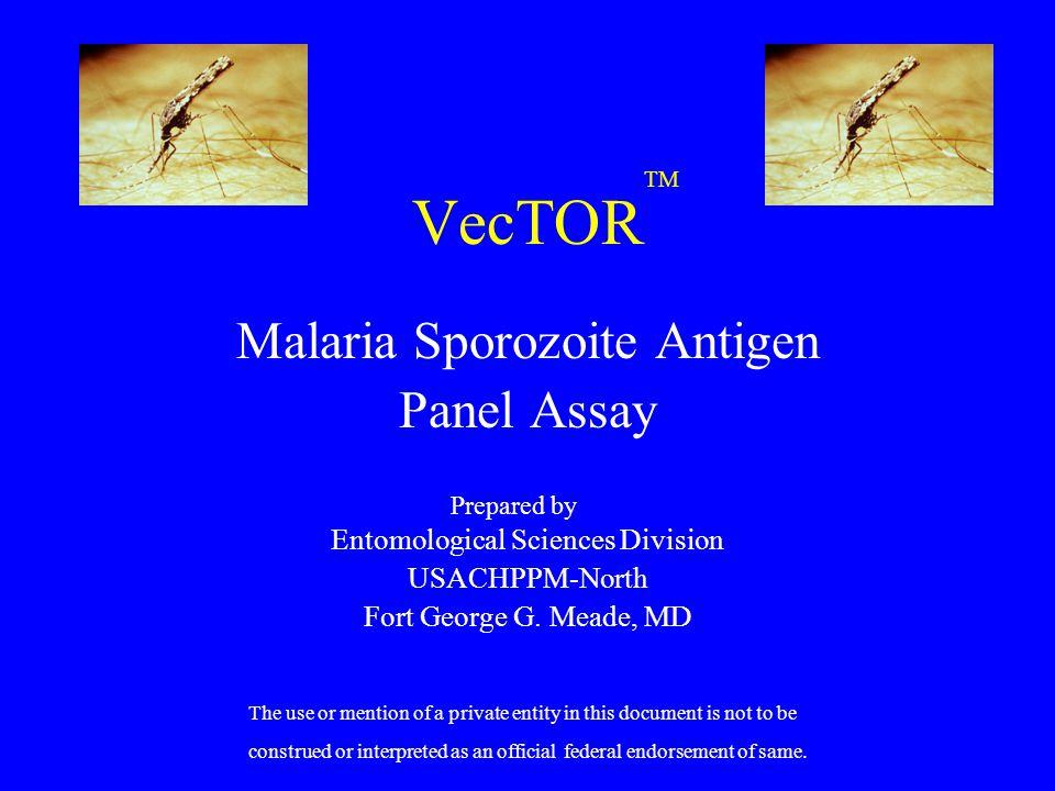 VecTOR Malaria Sporozoite Antigen Panel Assay