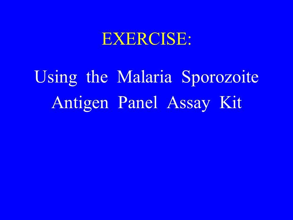 Using the Malaria Sporozoite Antigen Panel Assay Kit