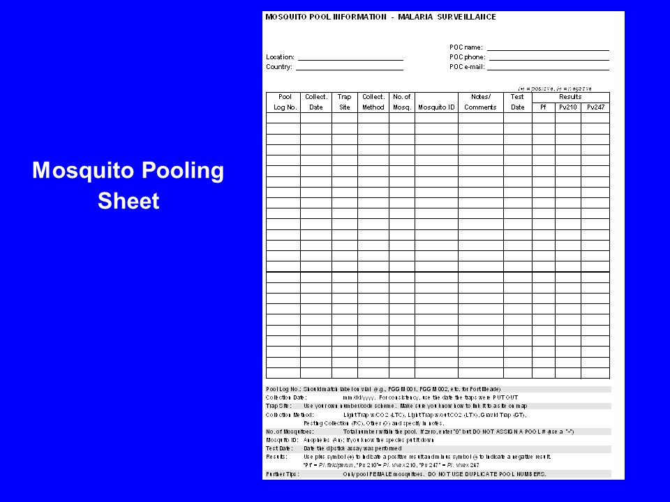 Mosquito Pooling Sheet