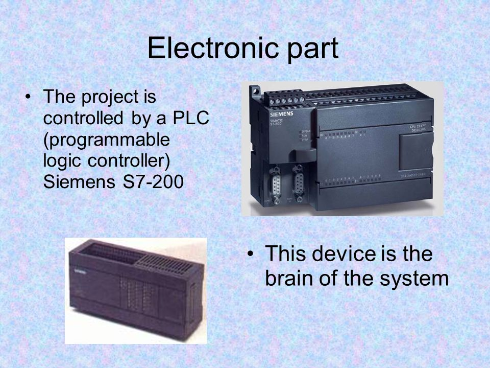 Electronic part This device is the brain of the system