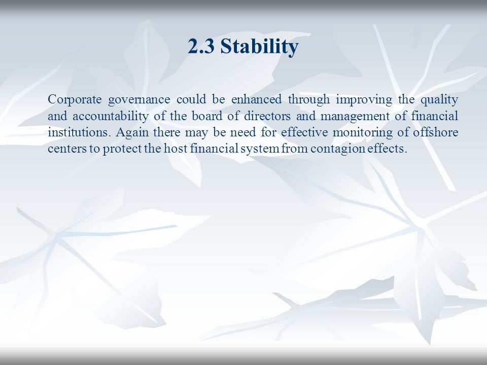 2.3 Stability