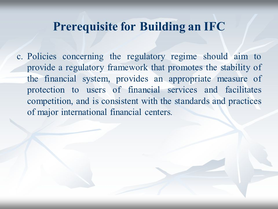 Prerequisite for Building an IFC