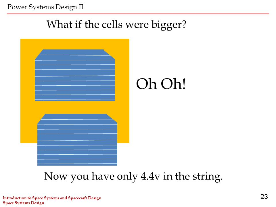 Oh Oh! What if the cells were bigger