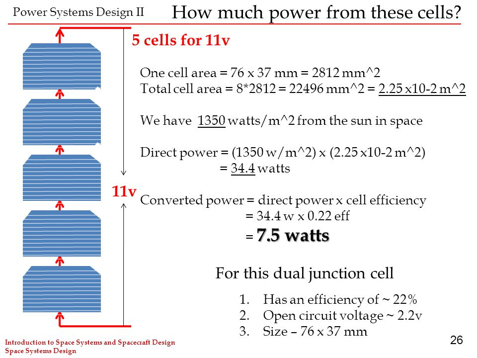 How much power from these cells