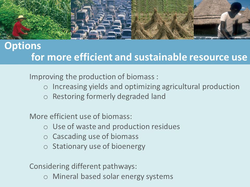 for more efficient and sustainable resource use