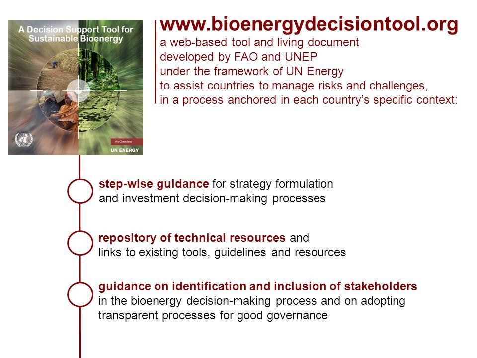 www.bioenergydecisiontool.org a web-based tool and living document