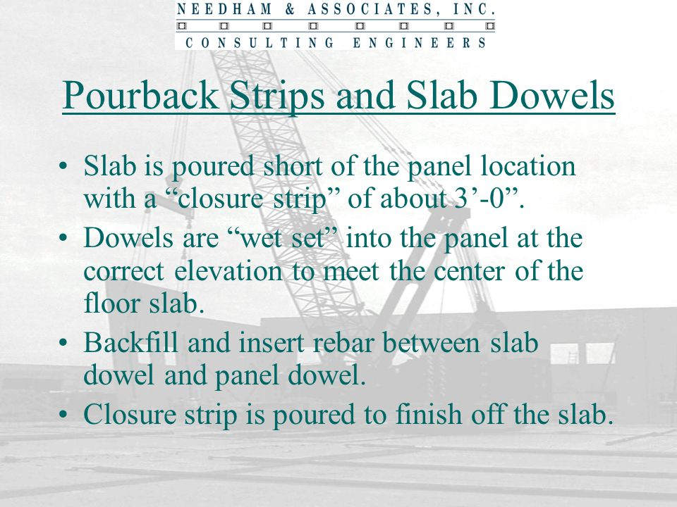 Pourback Strips and Slab Dowels