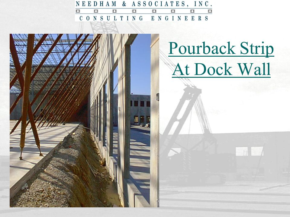Pourback Strip At Dock Wall