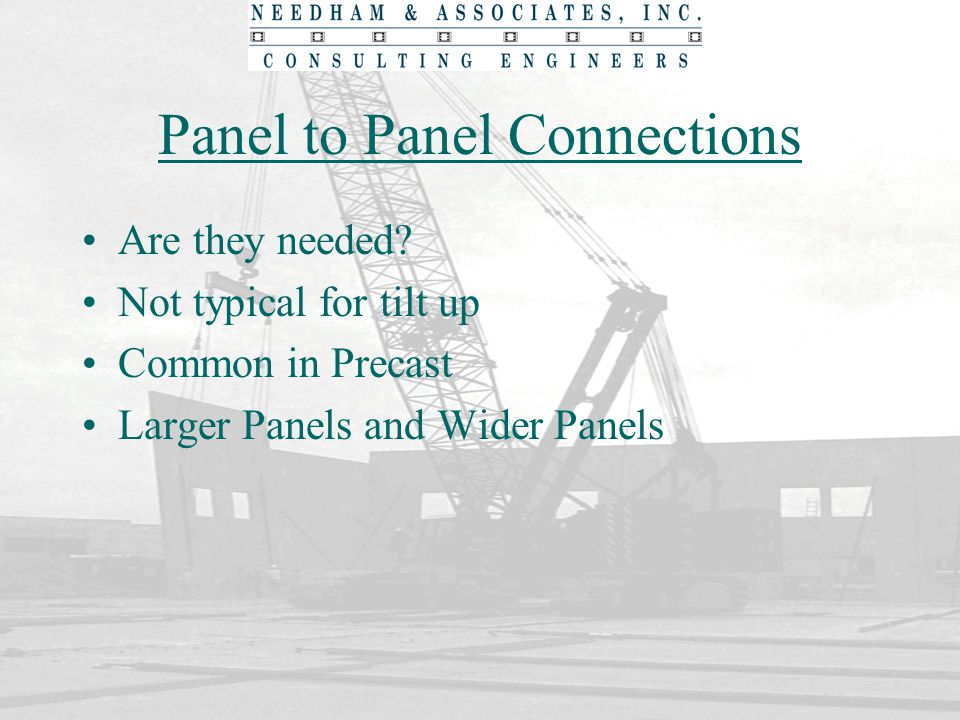 Panel to Panel Connections