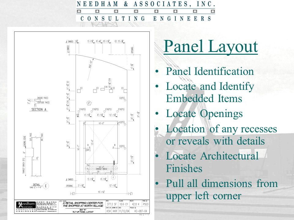 Panel Layout Panel Identification Locate and Identify Embedded Items