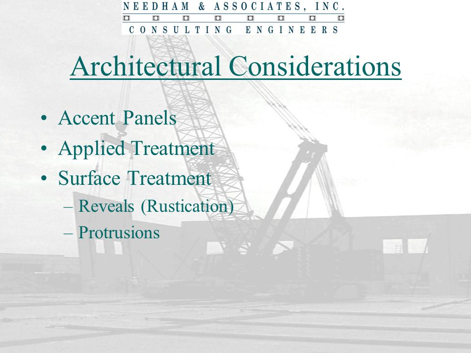 Architectural Considerations